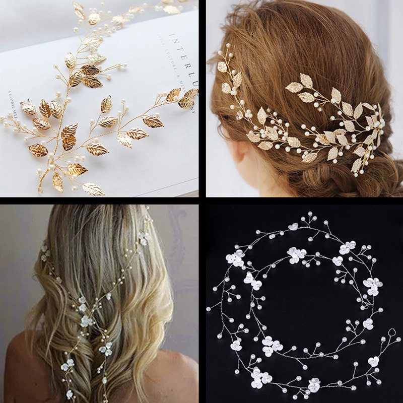 Wedding Hair Accessories Hand Woven Crystal Pearl Headband Women Girl Hair Band Headwear Bridal Hairstyle Jewelry