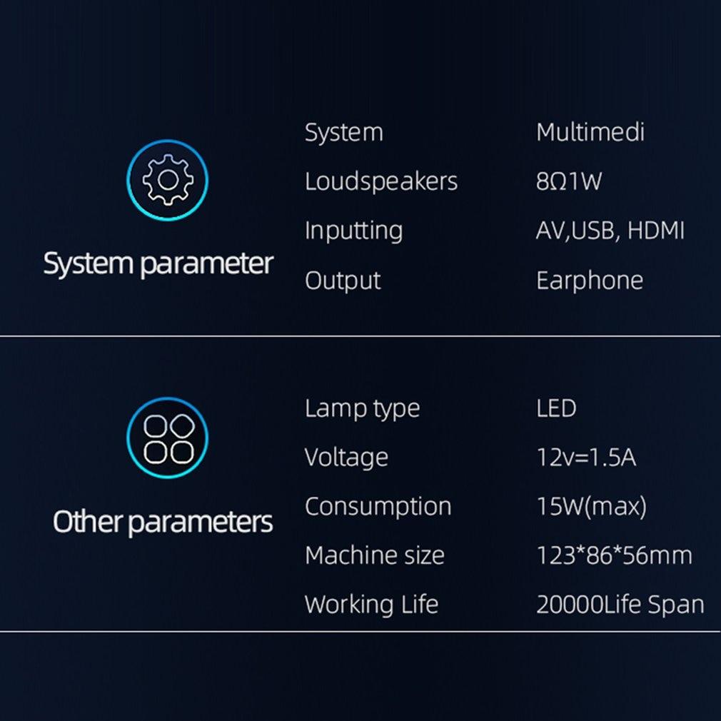 814 mini mini projetor de entretenimento em casa portátil suporta 1080p 4k hd conexão do telefone móvel projetor-1