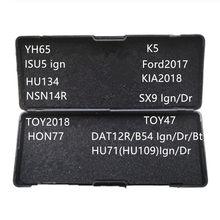 Genuino herramientas del cerrajero lishi YH65 ISU5 ign HU134 NSN14R DAT12R HU71 K5 Ford2017 kia2018 SX9 TOY2018 TOY47 HON77