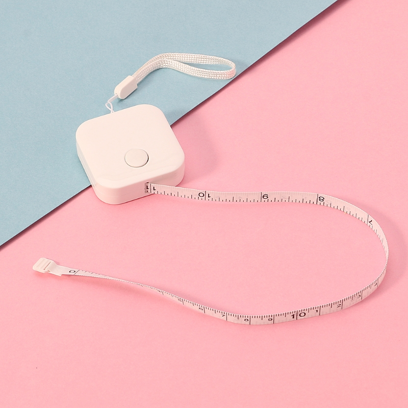 1.5m*7mm Candy Color Small Plastic Retractable Tape Measure Office School Supply R9UA