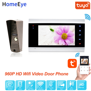 Tuya Smart Life App Remote Control WiFi IP Video Door Phone Video Intercom Security Home Access Control System Motion Detection mobile wifi video door phone video intercom system wireless door control wireless remote control video door phone