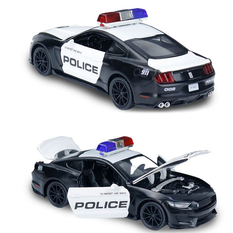 Friction Powered Police Car 1:16 Kids Plastic Toy Rescue Emergency Cop Vehicle N84E
