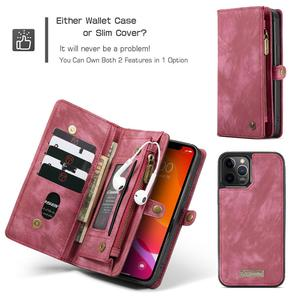 Image 4 - CaseMe Leather Flip Cover For iPhone 11 12 Pro Max SE 2020 Case Multi functional Magnet Cell Phone Bag For iPhone 6 7 8 Plus 10
