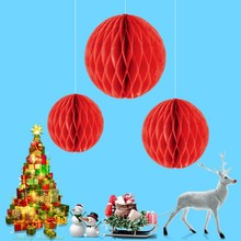 Christmas Decoration Pendant Honeycomb Ball Party Ornaments Exquisite Paper Crafts Cute Tree Bottom Skirt