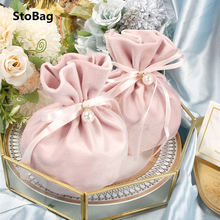 StoBag Wedding Party Cartoon Ears Velvet Bags Specially Gift Chocolate Packaging Romantic Marriage Favor Birthday Bbay Shower
