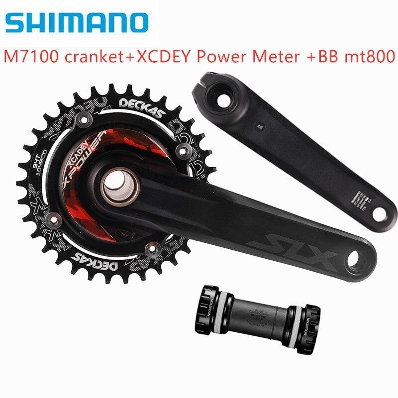 ¡Nuevo modelo! Shimano SLX M7100 M8100 XCADEY XPOWER 104bcd medidor de potencia, Deckas 104bcd chainring para M7100 M8100 M9100|Cigüeñal y cadena de rueda de bicicleta|   - AliExpress