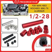 Filtros de combustible para coche trampa de combustible, filtro solvente 1X6 para NAPA 1/2 WIX 5/8 6061 T6, piezas negras SR, 11 Uds.