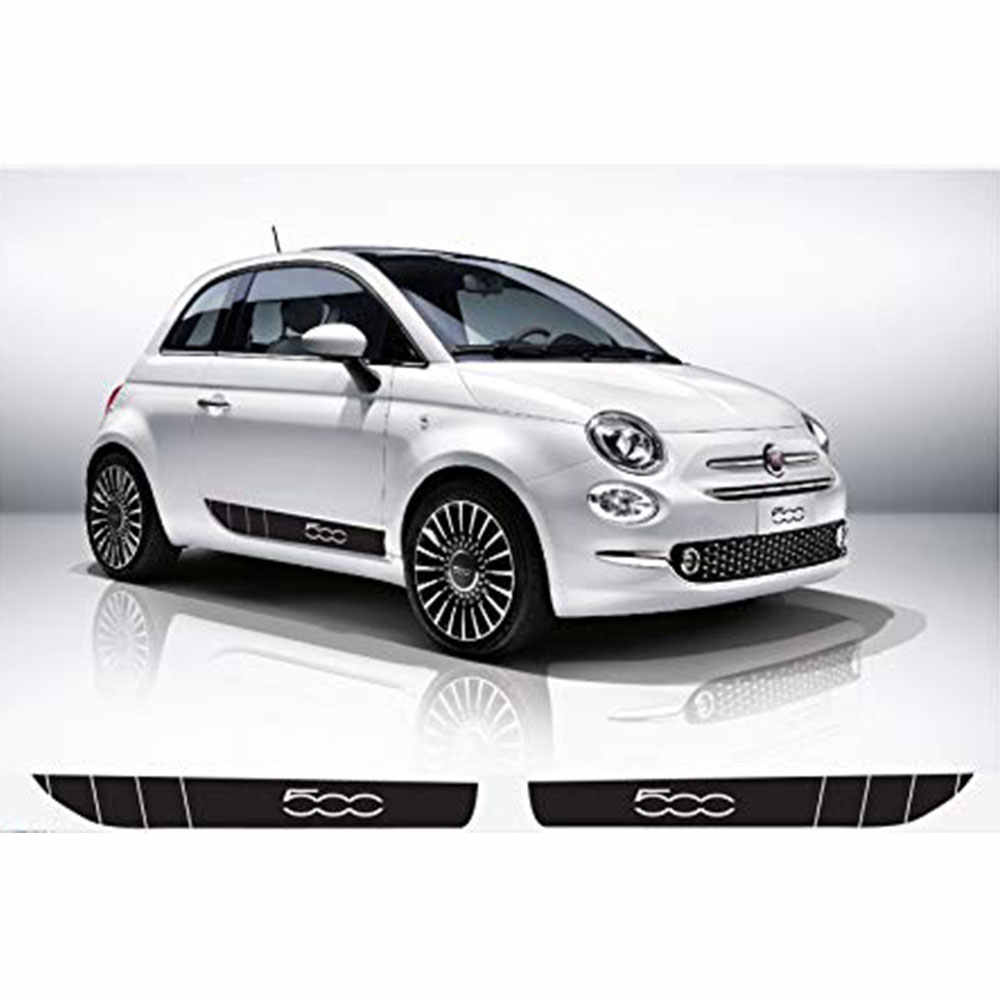 Autocollant latéral L + R pour Fiat abarth 120, autocollant décoratif de voiture, 500 cm, 2 pièces