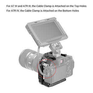 Image 5 - SmallRig Half Cage for Sony A7 III A7R III A7R IV Dslr Camera Cage With NATO Rail/ Cold Shoe Video Shooting Cage Kit     2629