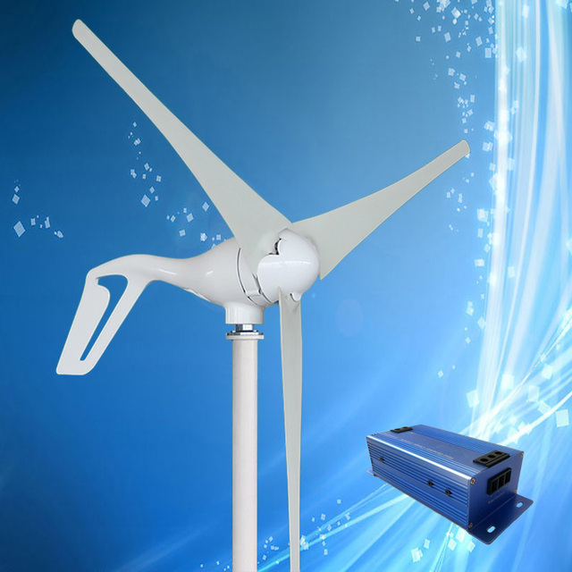 2020 New Type 400W Wind Turbine with 3/5PCS Blades + 600W Multi Function Wind Turbine Charge Controller