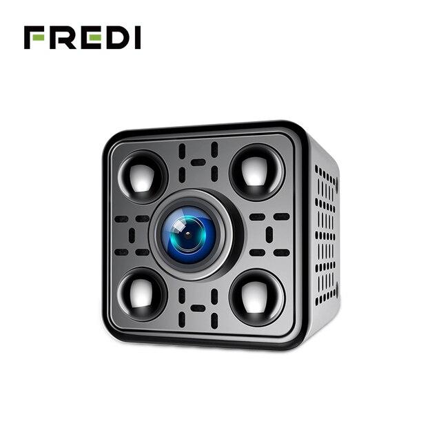 Fredi 미니 무선 ip 카메라 2.0mp 1080 p 보안 카메라 와이파이 적외선 야간 모션 감지 감시 cctv 카메라