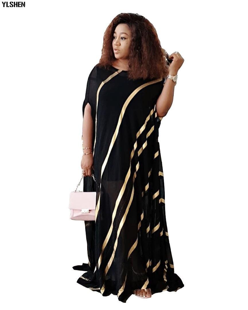 New Abayas African Dresses for Women Plus Size Dashiki Gold Stamping African Clothes Abaya Dubai Muslim Dress Robe Africa Dress