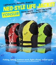 YONSUB 2019 Neoprene Life Vest Water Sports Kayaking Boating Adult Fishing Jacket Swimming Drifting Safety