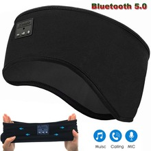 JINSERTA Bluetooth 5,0 Kopfhörer Schlaf Maske Drahtlose Sport Stirnband Weiche Musik Headset mit MIC für Freisprecheinrichtung