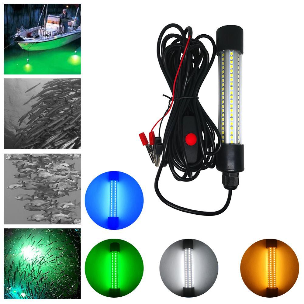 1 pc 12 24 v subaquatica submersivel noite pesca luz coletando peixe finder lampada atrair camarao
