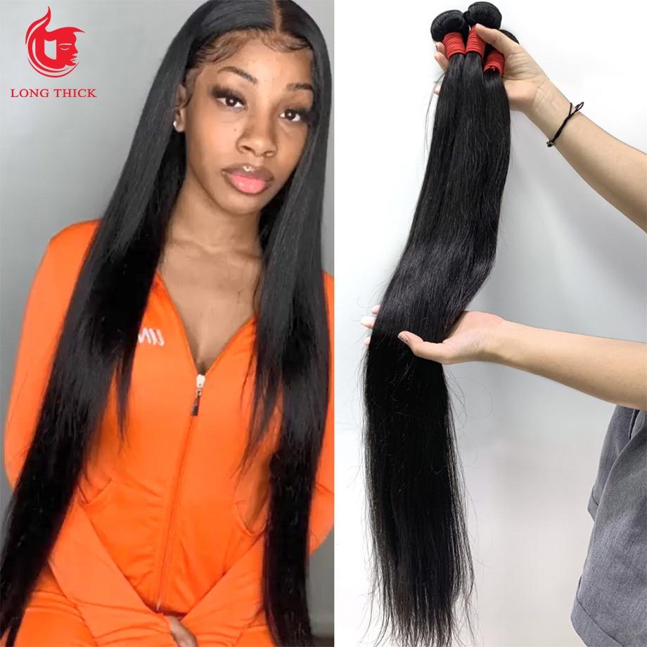 Straight Bundles 28 30 40 Inch Bone Straight Hair    Hair Bundles s 3 4  Bundles 1