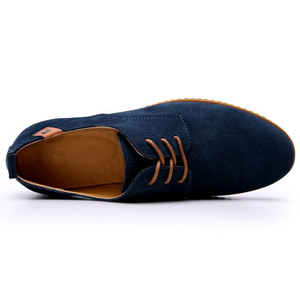 Image 4 - 2019 Brand Men shoes Oxford Suede Leather formal Shoes Male  Casual Classic Sneakers For Male Comfortable Footwear zapatos hombr
