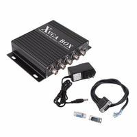 XVGA Box Rgb Rgbs Rgbhv Mda Cga Ega To Vga Industrial Monitor Video Converter With Us Plug Power Adapter Black