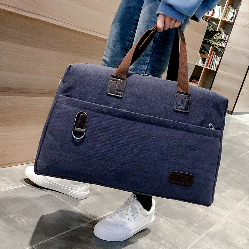 2019 New Travel Bag Large Capacity Canvas Short Distance Travel Outdoor Bag Foldable Bags