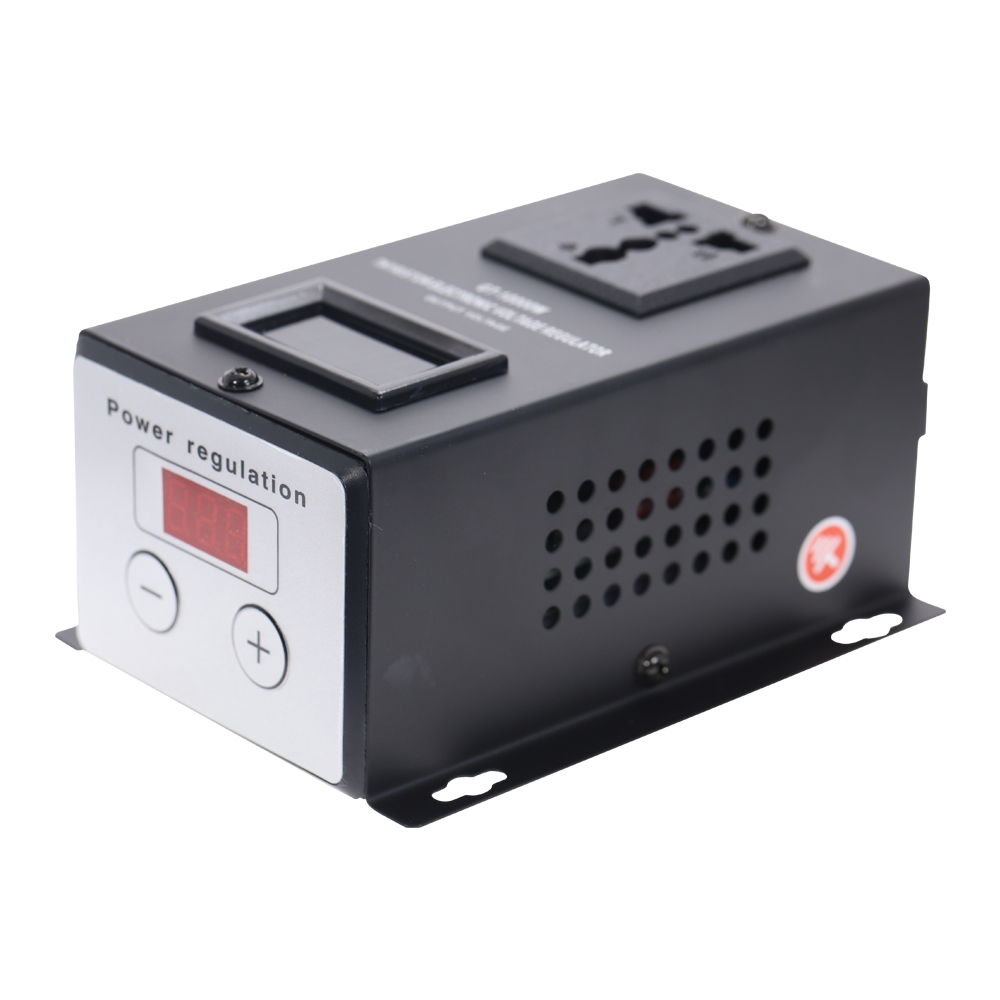 AC <font><b>220V</b></font> 10000W SCR Electronic <font><b>Voltage</b></font> <font><b>Regulator</b></font> Electric Tools Temperature Speed Fan Motor Adjust Controller Dimmer Thermostat image