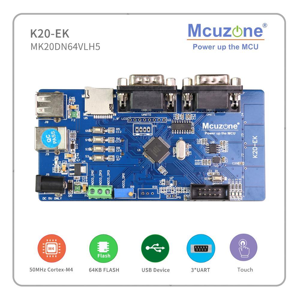 Freescale Kinetis MK20DN64VLH5 Development Board, 50MHz Cortex-M4, USB OTG, 16Bit ADC, 3UART, TSI