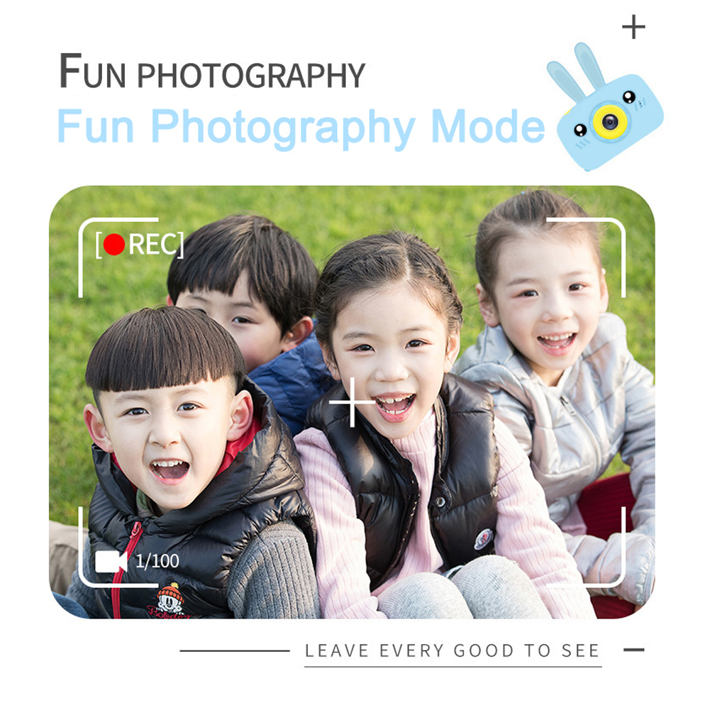 Children Mini Camera Full HD 1080 Portable Digital Video Photo Camera 2 Inch Screen Display Camera Educational Outdoor Toys