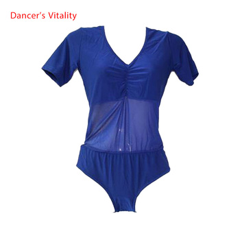 New arrival crystal cotton and mesh belly dance top momen short sleeves body tops sexy 9colors - discount item  25% OFF Stage & Dance Wear