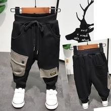 אביב סתיו חדש ילדי מכנסיים תינוק בני מכנסי קזואל נערי כותנה ארוך מכנסיים תינוק בני בגדי מכנסיים