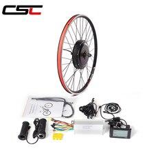 Комплект для переоборудования eBike, 48 В, 500 Вт, переднее и заднее колесо, комплект для велосипеда 20, 24, 26, 27,5, 28, 29 дюймов, 700C, колесо для электрове...