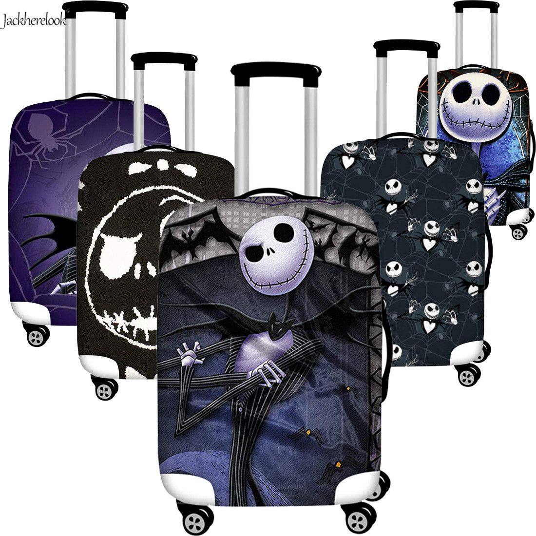 Jackherelook Luggage Protective Cover The Nightmare Before Christmas Travel Suitcase Dust-proof Cover Elastic Trolley Bag Sheet