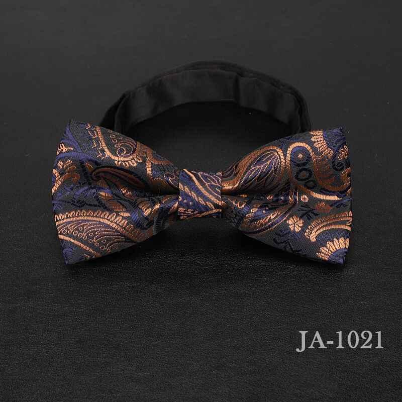 Luxur noeud papillon hommes Jacquard tissé solide à pois rayure jaune bleu marine rouge cadeau de mariage papillon noir garçons noeud papillon