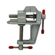 Original Aluminum Miniature Small Jewelers Hobby Clamp On Table Bench Vise Mini Tool Vice