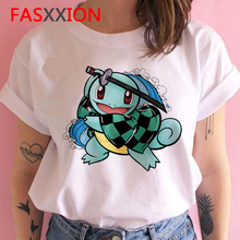Pokemon T-shirt for Women Aesthetic Kawaii Funny Tshirt 2020 90s Pikachu Graphic Tees Female Hip Hop Tops Tees Harajuku Shirt