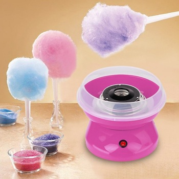 цена на Mini Electric Cotton Candy Maker Marshmallow DIY Machine Portable Household Cotton Sugar Making Device Children Snack Maker