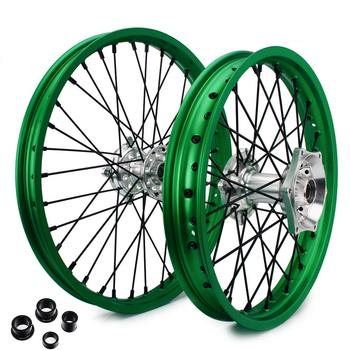 """BIKINGBOY 21"""" 19"""" MX Front Rear Wheel Rims Hubs Sets For Kawasaki KX 250 450 F KX-F 250 450 2006-20118 KX 125 250 2006-2013"""