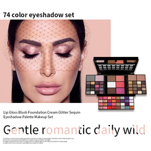 74 Color Eyeshadow Pallete Pigment Nude Makeup Pallete Eye Shadow Palette Pastel Make Up Palette Beauty Glazed Natural Cosmetics beauty glazed 9 color eyeshadow palette cosmetic matte eye shadow palette nude glitter fashion eyeshadow highly pigment makeup