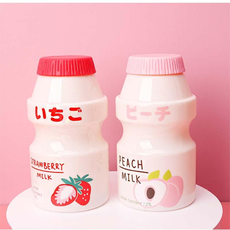 Kawaii Plastic Banana/Strawberry/Avocado/Peach Fruits Water Bottle 3