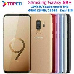 Samsung Galaxy S9 + G9650 S9 плюс 128 ГБ/256 Гб Dual Sim оригинальный мобильный телефон Snapdragon 845 Octa Core 6,2