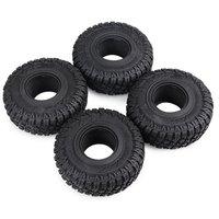 4Pcs 118mm 1.9 Tire with Foam for 1/10 RC Rock Crawler Axial SCX10 90047 D90 D110 TF2 Tamiya CC01 Traxxas TRX 4