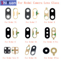 Nuevo cristal de la Lente de la cámara trasera de reemplazo para Xiaomi Redmi Nota 9 8 8A 7 7A 6 6A 6Pro 5 5