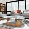 Triângulo popular mesa de café criativo sala de estar vidro em forma de triângulo de madeira maciça pequeno apartamento moderno mesa de chá