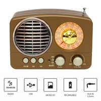 M-161BT аудио Bluetooth динамик радио ABS Ретро прочный домашний USB Перезаряжаемый AM FM SW портативный многофункциональный подарок TF слот для карты
