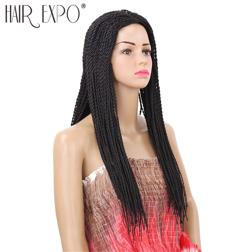 22inch Long 2X Twist Braids Wig For Black Women Synthetic Hair Afro Hairstyle Wigs Heat Resistant Hair Expo City