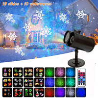 LED Laser Projector Lamps Waterproof AC85 240V 12 Patterns 10 Water Wave Christmas Lights Outdoor