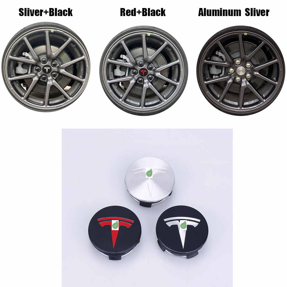 Hub Cover Hubcaps for Tesla Model 3 Center Caps Modification Kit Wheel Cap Kit Carbon Fiber