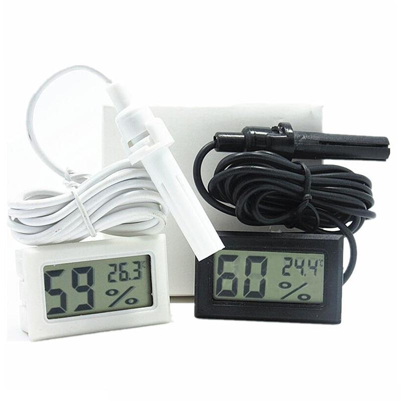 Professional Mini Probe Digital LCD Thermometer Hygrometer Humidity Temperature Meter Indoor Digital LCD Display White Black