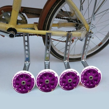 12-20 Inch Universal Children Parts Safety Support Bicycle Wheels Balance Auxiliary With Light Cycling Stabilisers Training