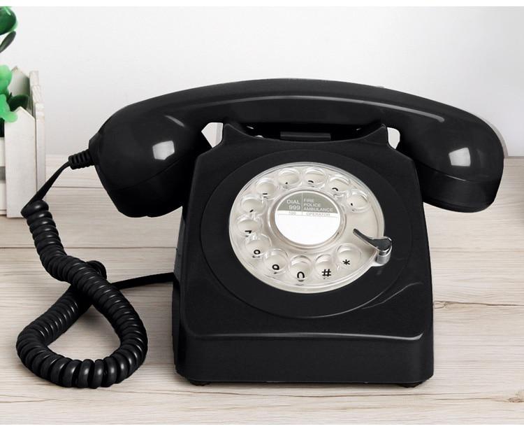 Fashion  Retro Telephone Corded Pretty Antique Telephone Old Fashion Landline Phones of 1960s Best European Style Telephone Gift