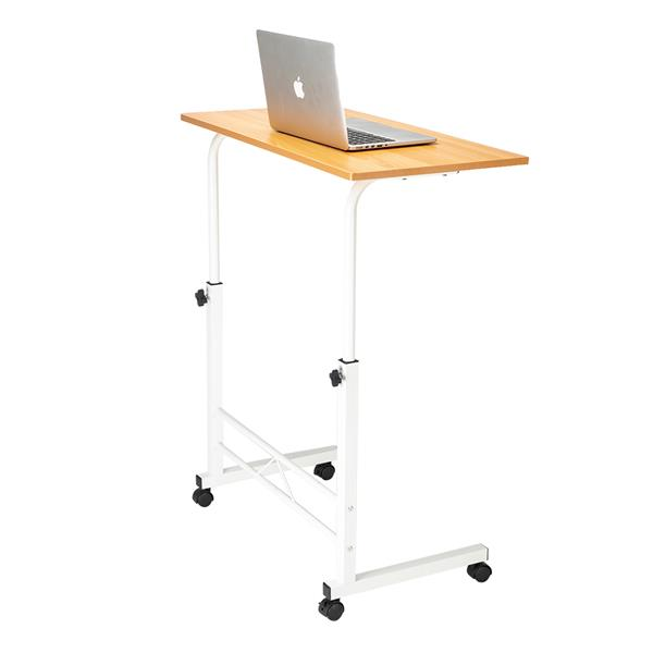 1PC Removable P2 15MM Chipboard & Steel Side Table Adjustable Wheel Mobile Computer Desk Snack  For Home And Office Room