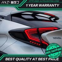 AKD tuning cars światła tylne dla Toyota C-HR CHR tylne światła LED DRL światła do jazdy światła przeciwmgielne dynamiczne światło sygnalizacyjne